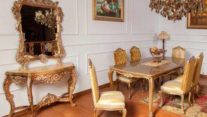 غذاخوری و میز و آینه نرگس