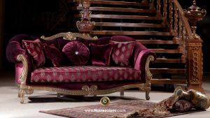 کاناپه بادمجانی رنگ آنجل
