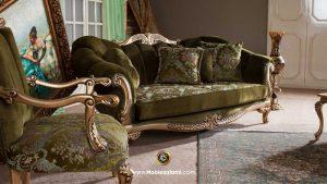 کاناپه مبل آنجل با پارچه یشمی