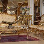 مبلمان فرانسوی طلایی