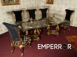 میز و صندلی ناهارخوری کلاسیک امپراطور