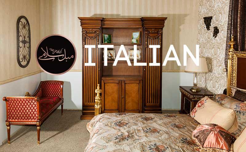 ویترین چوبی بزرگ و لاوست ایتالیایی