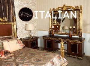 آینه کنسول و پاتختی ایتالیایی