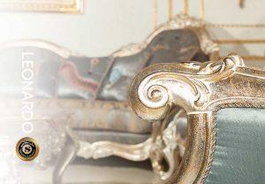 رنگ ورق شکسته با زیرکار سفید و روکار نقره ای و طلا