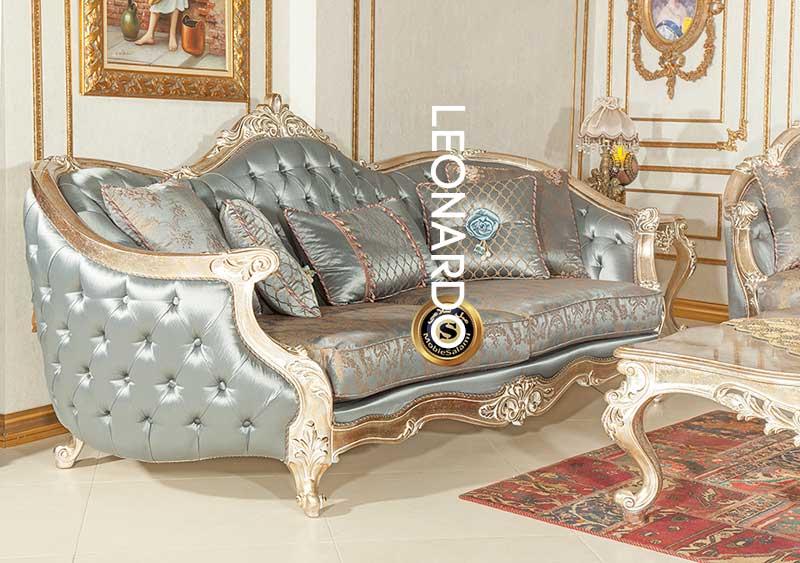 مبل لئوناردو دارای دو کاناپه متفاوت