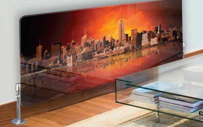 رادیاتور شیشه ای برای روح بخشیدن به دکوراسیون داخلی