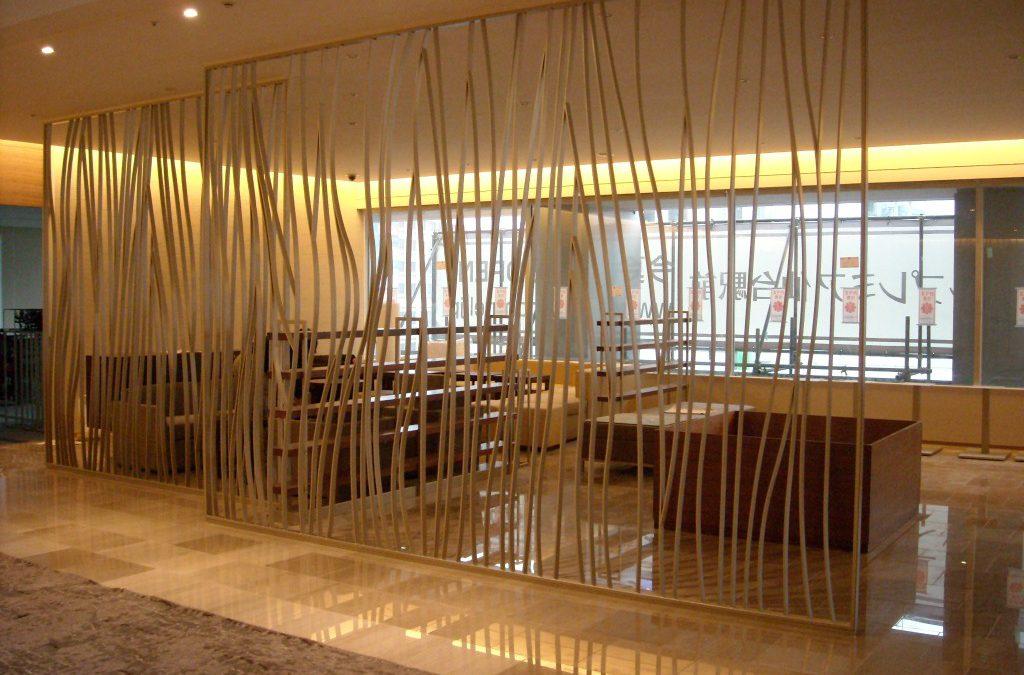 تقسیم محیط سالن و فضای داخلی بدون دیوار