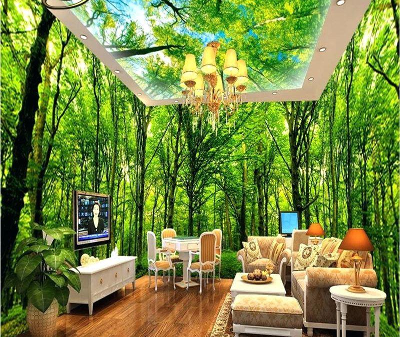 دکوراسیون خانه به شکل جنگل های استوایی