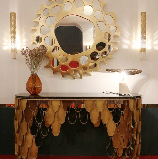 خانه ای شیک با آینه کنسول